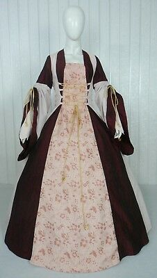 Medieval Renaissance Tudor Wedding Handfasting Larp Gown Dress Costume (28K)
