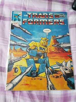 Transformers British Weekly #43 Marvel Uk Comic 1986