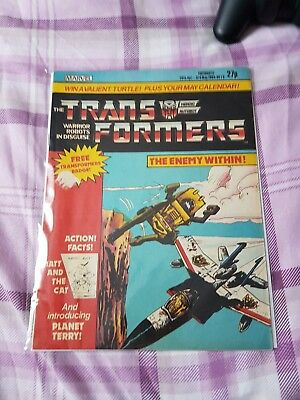 Marvel Transformers issue 16 1985 UK version