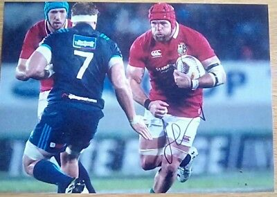 British lions James Haskell hand signed photo 12x8