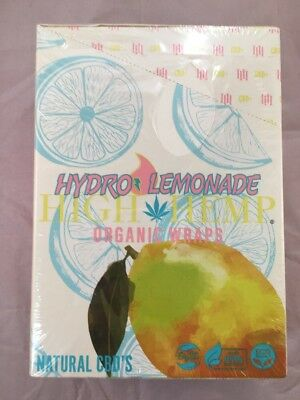 FREE GIFTS🎁IF U BUY Hydro⚡️Lemonade High Hemp Herbal Natural Organic Wraps 25pk