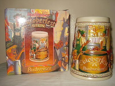 Budweiser Oktoberfest 1996 Collectors Beer Stein Mug  new in box