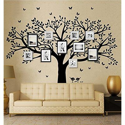Family Tree Wall Decal Butterflies And Birds Vinyl Art Photo Frame Stickers Room