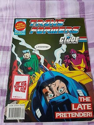 Transformers issue 294 Marvel UK Edition Free gift included.