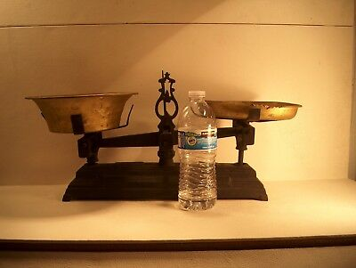 Antique Balance Scale French Cast Iron Force 5 Kilo G - Balance De Menage