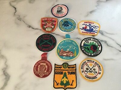 LOT OF 10 vintage BOY SCOUTS BSA PATCHES