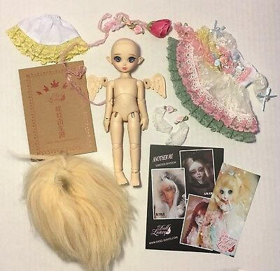 Doll Leaves Fay FULL SET+ BOX 20cm BJD Doll Wig Clothes Wings Normal Skin