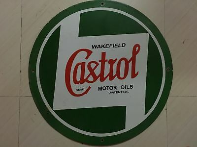 Castrol Motor Oil Porcelain Sign 24 Inches Round