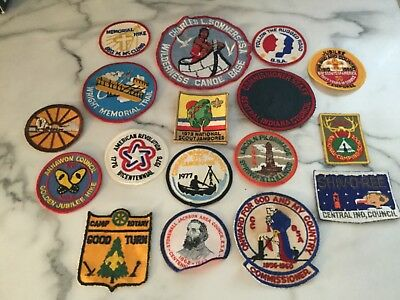 LOT OF 17 vintage BOY SCOUTS BSA PATCHES