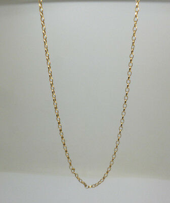 9ct yellow gold belcher 20 inch link chain with '375' stamp