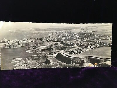DUNBAR FROM THE AIR 1959 SCOTLAND PANORAMA VIEW LONG 214 mm NATIONAL POSTCARD