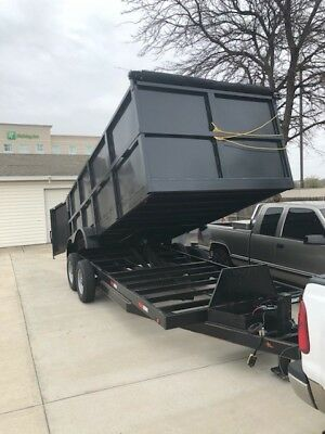 dump trailer, hydraulic, black, low profile dump trailer