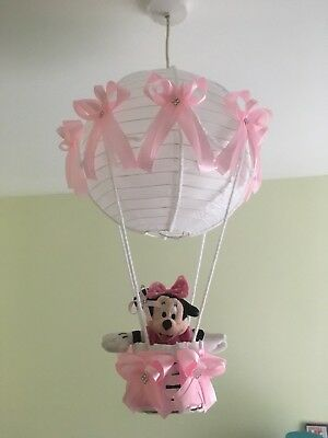 Minnie Mouse Hot Air Balloon Nursery Light Shade Lovely Pink Theme