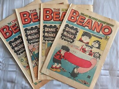 The Beano, 1974, 4 Issues