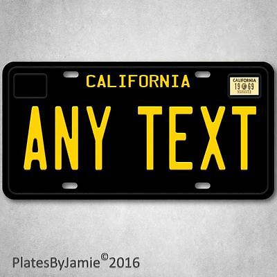 California ANY TEXT  Personalized TEXT and YEAR Aluminum License Plate Tag New