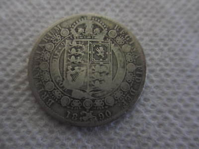 1890 Great Britain Half Crown Very Fine condition VF Free shipping