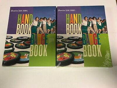 Lot of 2 New Girl Scouts of America Junior Handbook Badgebook Combo Sealed