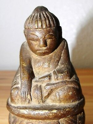 Rare and Unique Antique Sitting Buddha Image from the Bagan Period