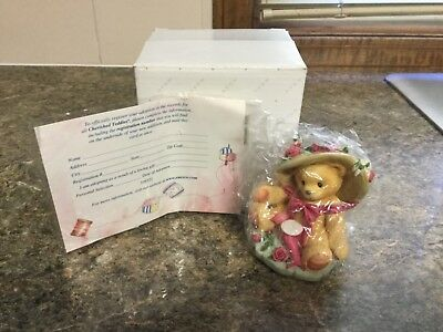 "Avon Cherished Teddy Figurine-by Enesco ""You're Sweet As A Rose"" - NIB!"