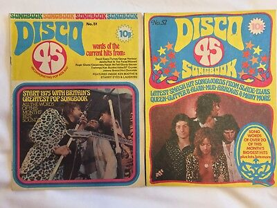 Disco 45 & Words of 30 Hits Songbooks. 1970's