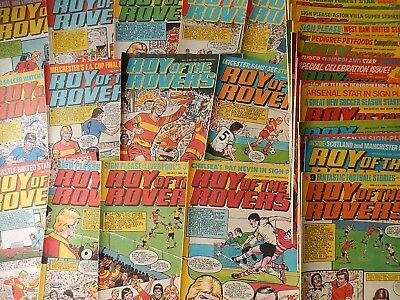 Vintage Roy Of The Rovers Comics 1984 - 36 of 52 Comics 1984