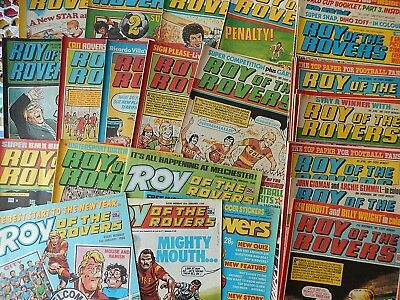 Vintage Roy Of The Rovers Comics - 28 Comics Mix from 1981, 1982, 1983 & 1988