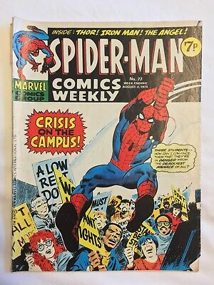 Spider-Man, Comics Weekly, No.77, August 3 1974