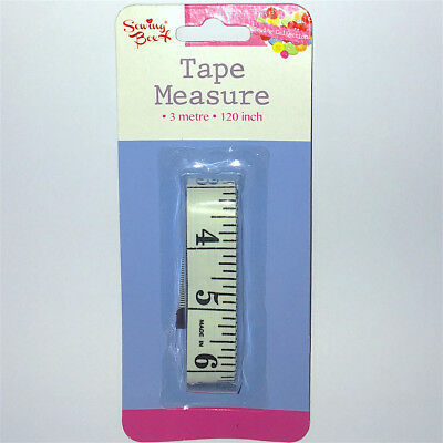 """Measuring Tap White Body Extra Long 3m 120"""" Ruler Sewing Cloth Tailor Measure UK"""
