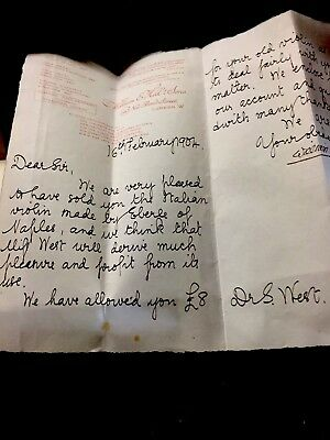 New bond  LONDON-violin W.E Hill & Sons 1904 Papers signed rare old investment