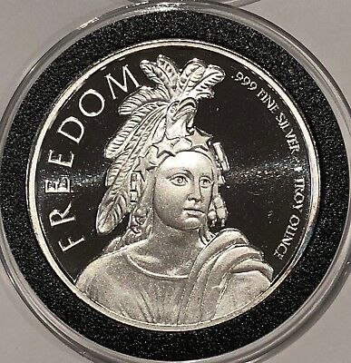 Freedom Statue Of Liberty American Eagle 1 Troy Oz .999 Fine Silver Round Coin