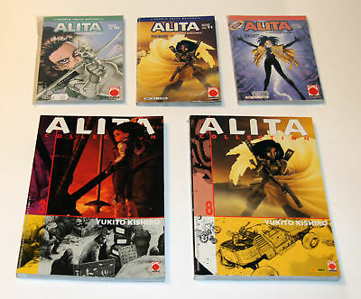 ALITA Collection n.3-8 ALITA L'angelo della battaglia n.10-11-17 -YUKITO KISHIRO