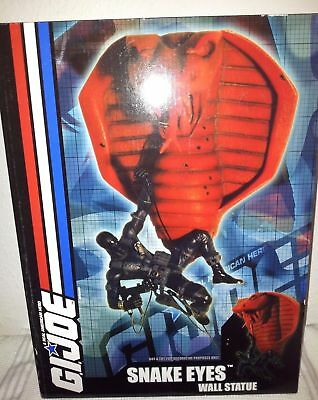G.i. Joe Snake Eyes Wall Statue Resin Figur Diamond Select Toys Limited Edition