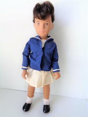 Vintage Sasha Doll Brunette Brown Hair Eyes Sailor Girl Outfit French Braid