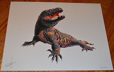 Limited Edition GILA MONSTER Print - Signed and Numbered by Artist 79/100