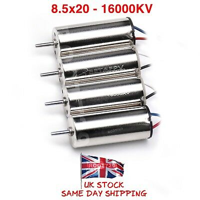 4 x BetaFPV 8.5x20mm 16000KV Motors for Beta85 Whoop Frame or Similar UK Seller