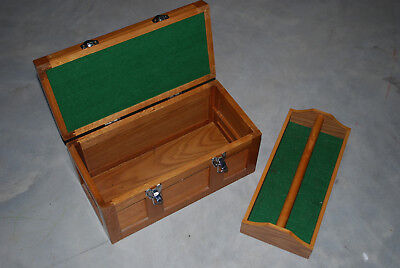 WOODEN TOOL Box CHEST, 5 Drawer, Oak, Vintage, Nice, MACHINIST toolbox