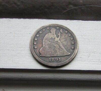 ~ Ultra Rare ~ 1891-O 25C Liberty Seated Quarter ~ New Orleans ~ Only 68k minted