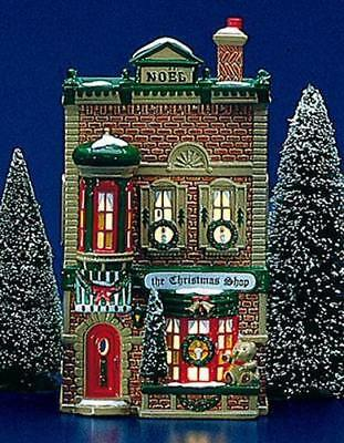 """Dept 56 Snow Village """"THE CHRISTMAS SHOP"""" #50970- Retired 1996- NEW"""