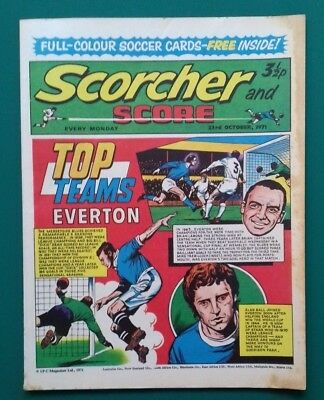 Scorcher and Score comic. 23 October 1971. Everton cover