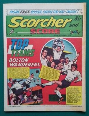 Scorcher and Score comic. 30 October 1971. Bolton Wanderers cover