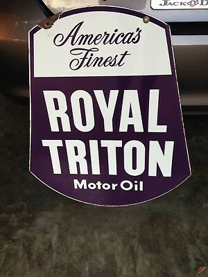 Royal Triton Gas Sign