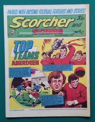 Scorcher and Score comic. 13 November 1971. Aberdeen cover