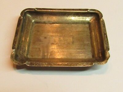 ANTIQUE Vintage Miniature Dish Ash Tray  STERLING SILVER 22 GRAMS ANT#307
