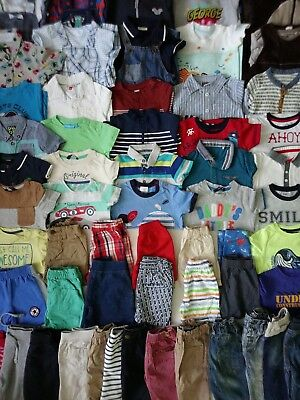 Massive Baby Boys Spring Summer Clothes Bundle 9 - 12 Months/Over 60 Items