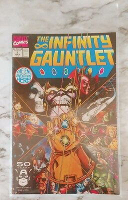 Marvel Comics THE INFINITY GAUNTLET #1 July 1991 Thanos Avengers HTF Clean Copy