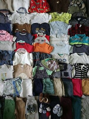 Massive Baby Boys Spring Summer Clothes Bundle 6 - 9 Months/Over 60 Items