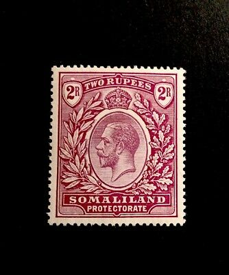 somaliland SG 83 2R KGV Lightly Mounted Mint 1921