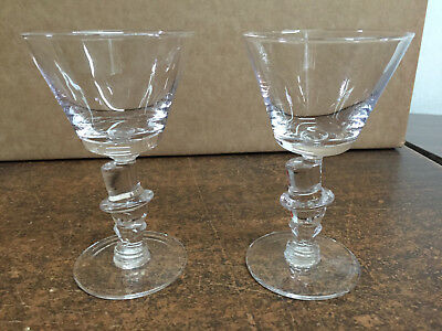 A REAL FIND!  Morgantown Glass Works Top Hat Cocktail Glasses (Set of 2)