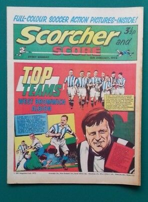 Scorcher and Score comic. 15 January 1972. West Bromwich Albion cover