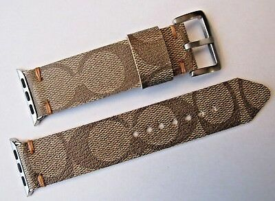 Coach Upcycled Handmade Signature Watch Strap/band For 38Mm Apple Watch